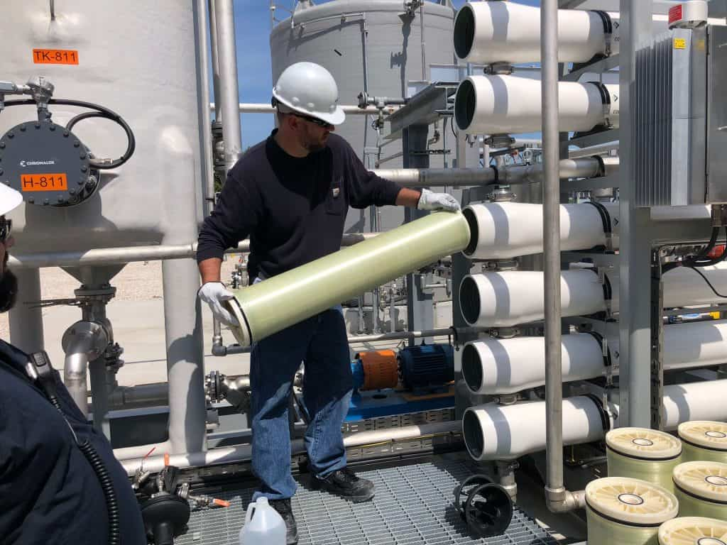 Membrane water treatment package