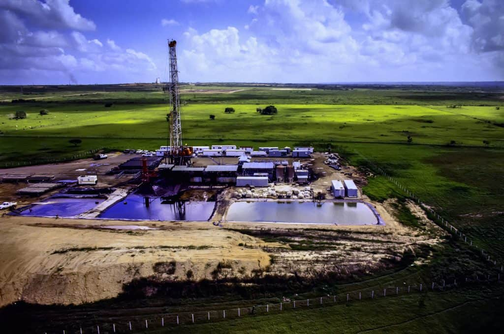 Drilling Rig- Aerial View