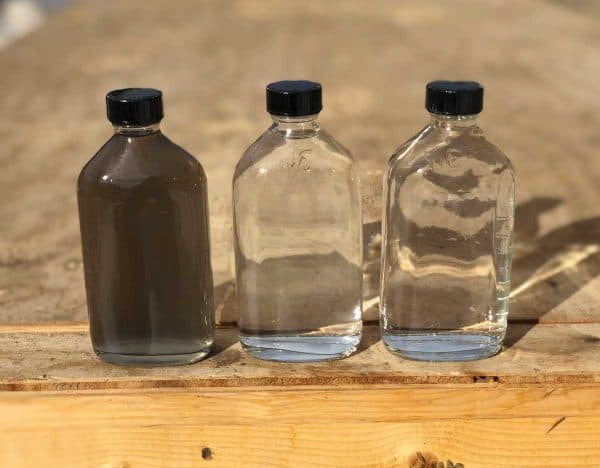treated produced water samples